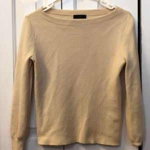 J. Crew Cream Long Sleeve Knit Crew Sweater